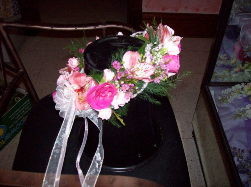 1265 PINK FLOWER HALO PIECE