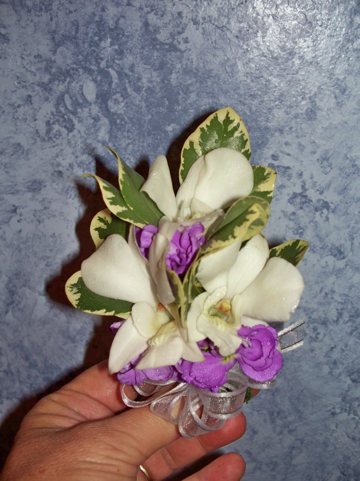 WHITE ORCHIDS AND LAVENDER