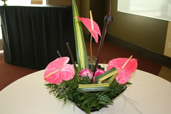 PINK EXOTIC ANTHRIUM ARRANGEMENT