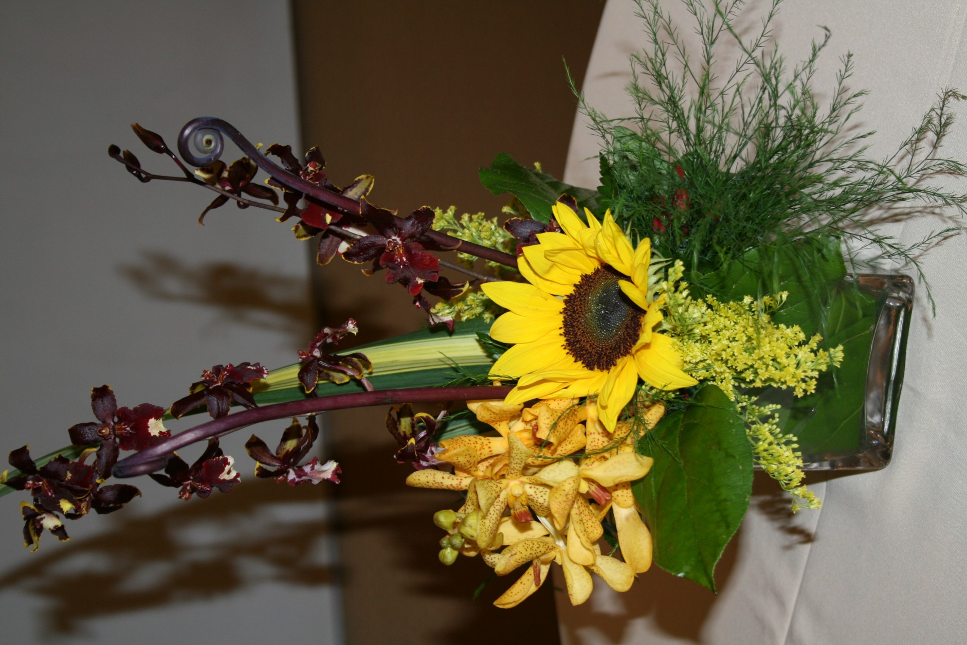 SUNFLOWER/ORCHID ARRANGEMENT