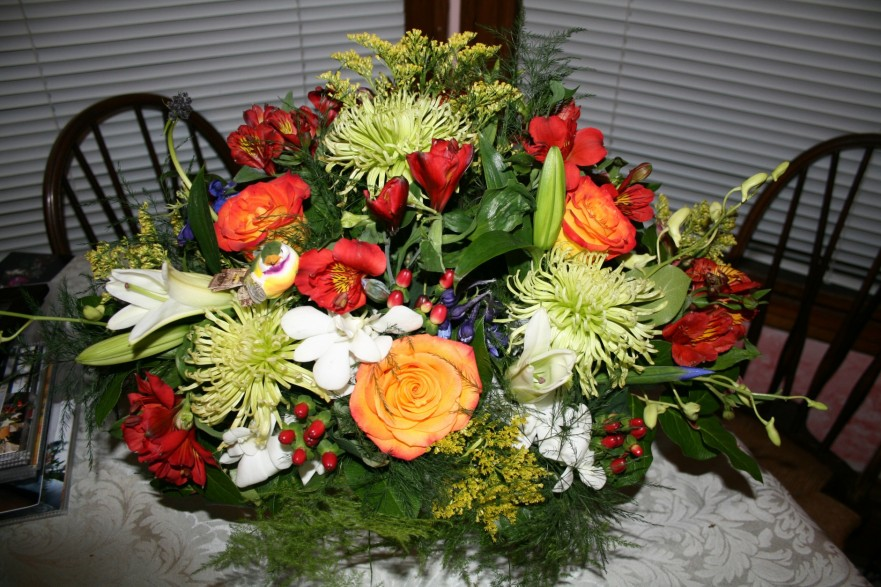 1623 ORANGE,GREEN ARRANGEMENT
