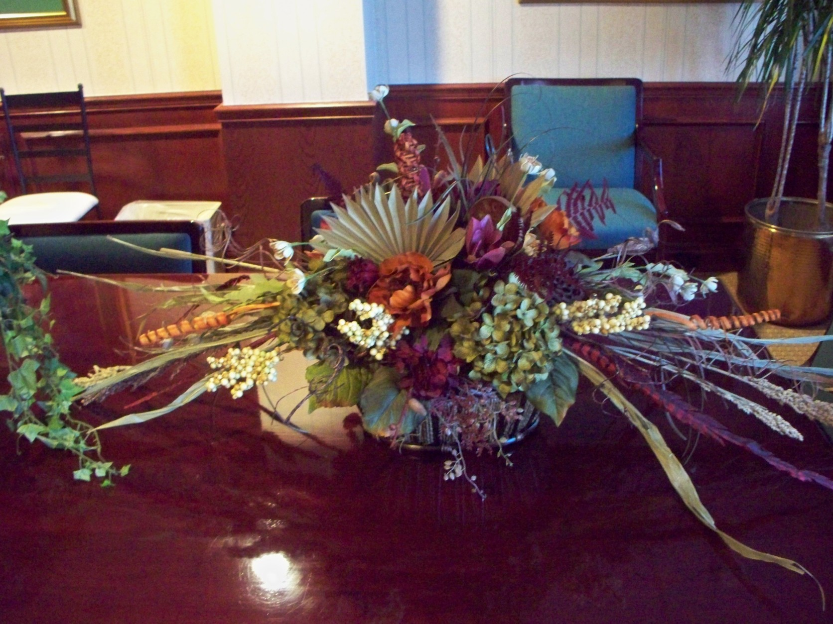 1628 DRIED FLOWER ARRANGEMENT FOR FALL