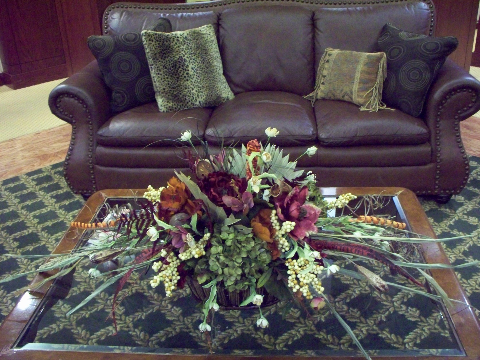 FALL DRYED & SILK TABLE ARRANGEMENT