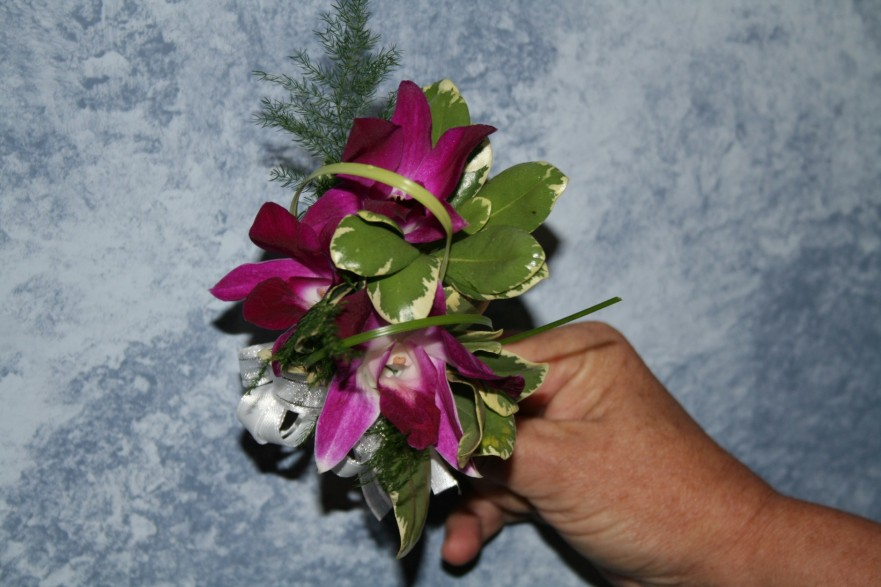 781 PURPLE ORCHID CORSAGE