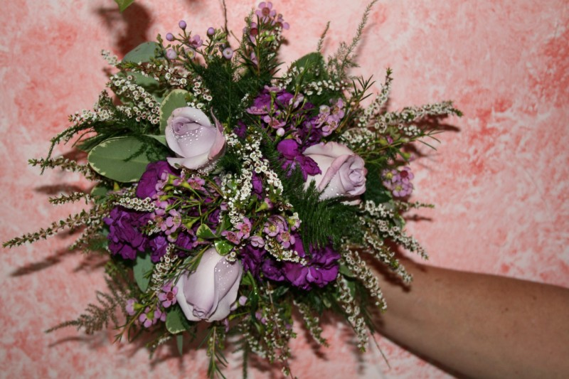 1327 LAVENDER & PURPLE ROSE BOUQUET