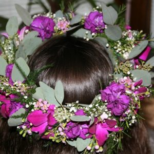 FLOWER GIRL HEAD PIECE