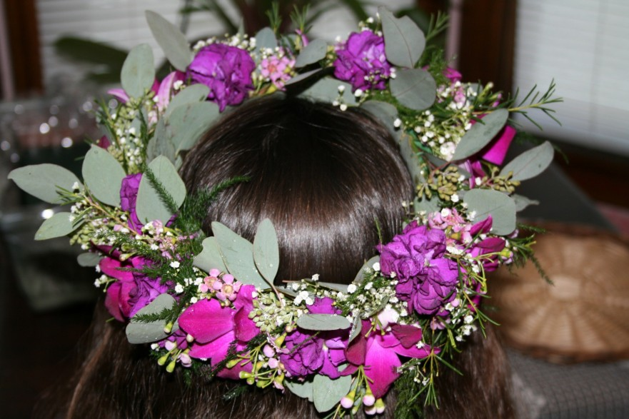 1022 HAIR PIECE PURPLE ORCHIDS