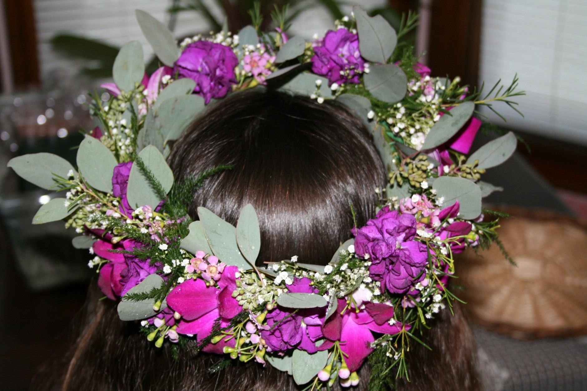 HAIR PIECE PURPLE ORCHIDS