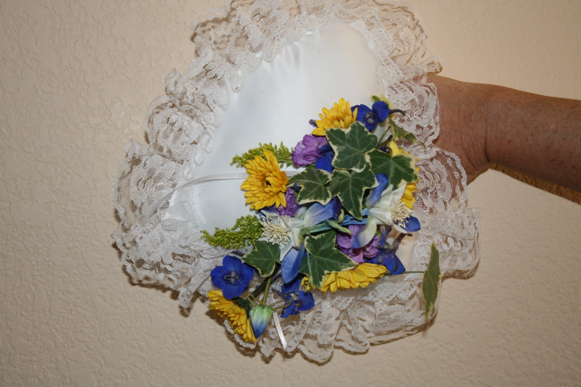 SUNFLOWER RING BEARER PILLOW