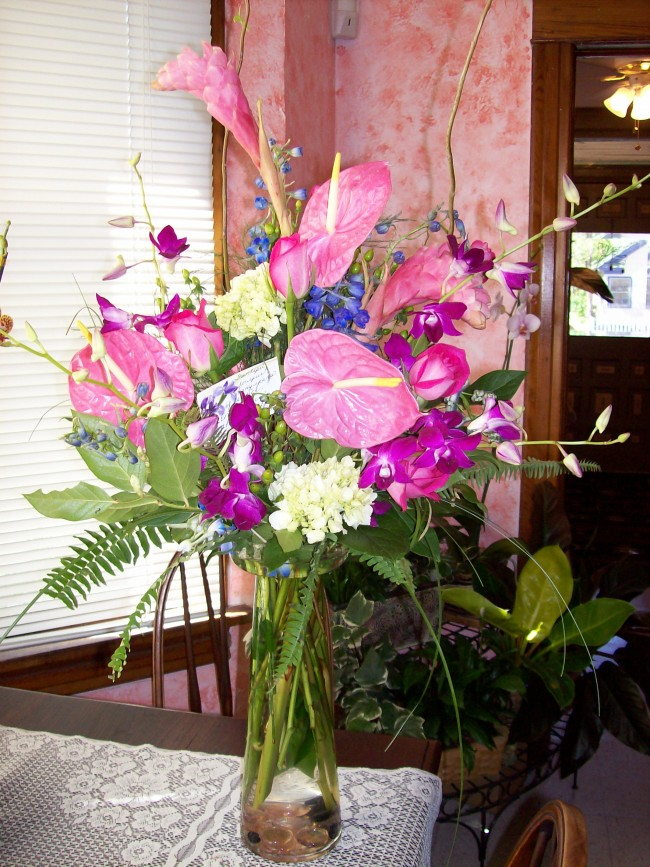 1706 PINK ANTHURIUM ARRANGEMENT