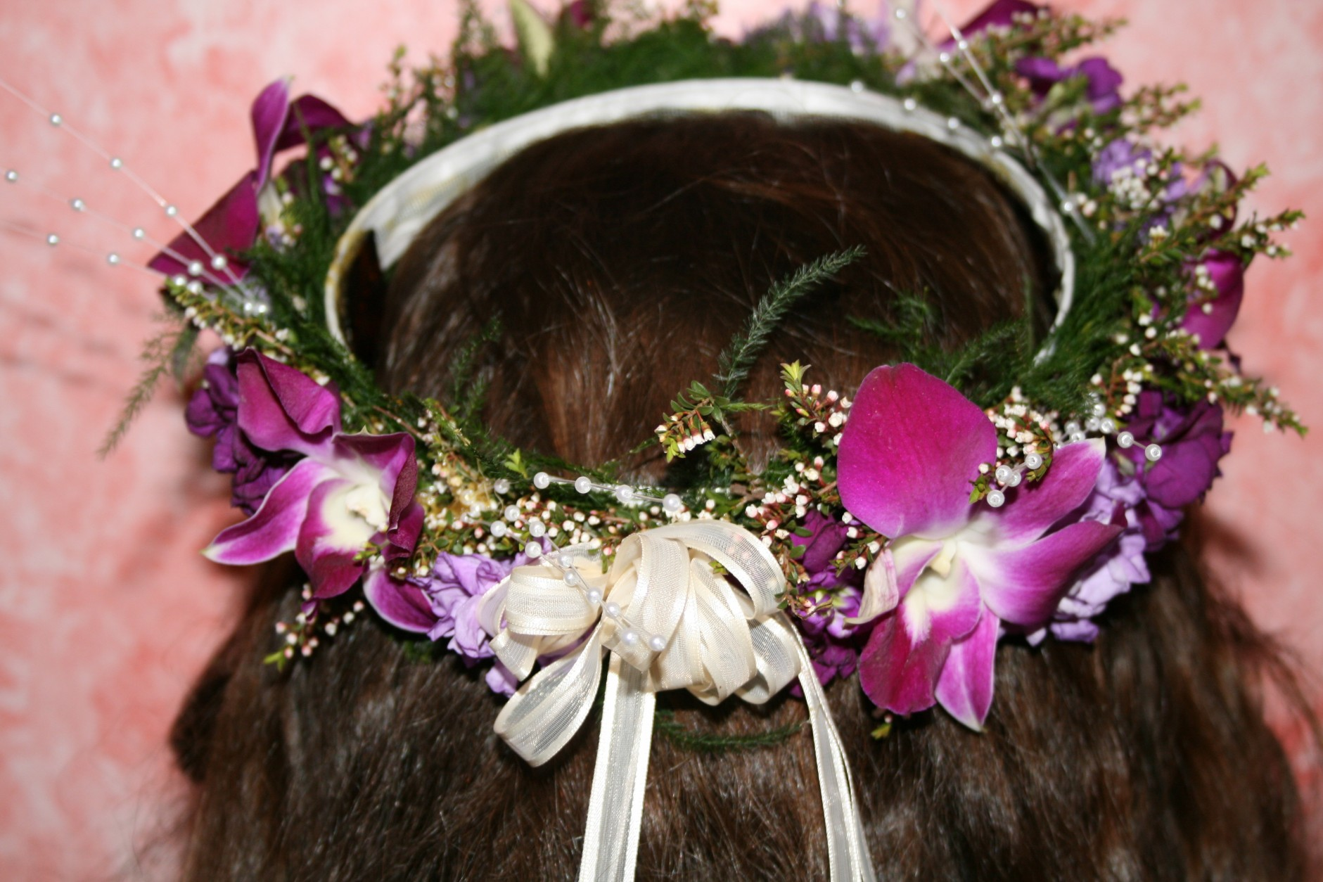 BRIDE OR FLOWER GIRL HAIR PIECE