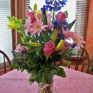 1531 SPRING FLOWERS IN PURPLE,LAVENDER,BLUES & YELLOW