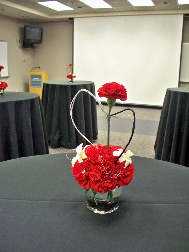 DOCTORS DAY RED CARNATION ARRANGEMENT