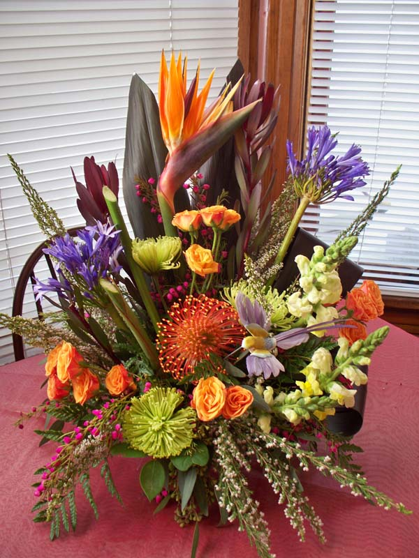 Bird of Paridise exotic arrangement